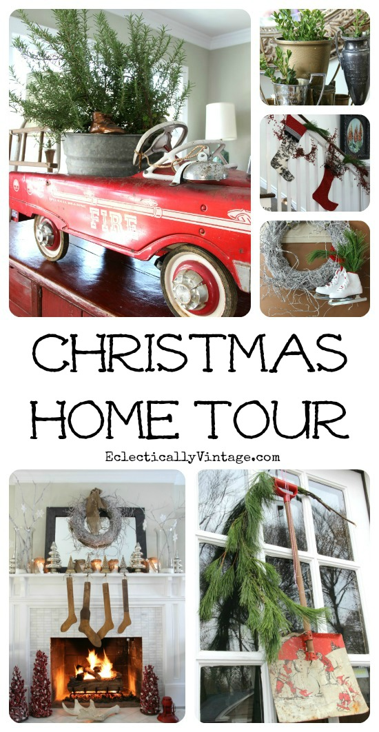 Christmas Home Tour - such creative ideas!  kellyelko.com
