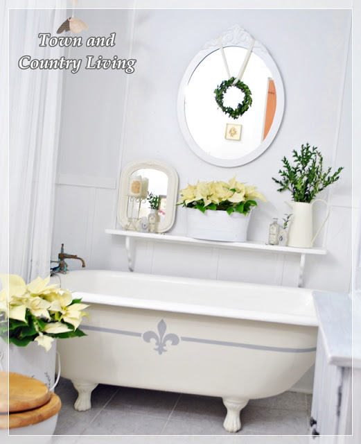 Christmas Bathroom - part of a beautiful house tour