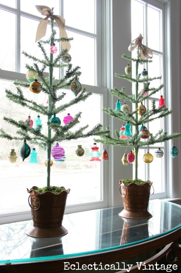 Eclectically Vintage Christmas Trees