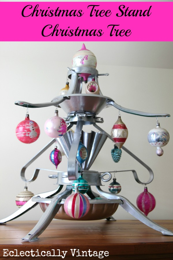 Unique Christmas Trees - a Christmas Tree Stand Tree!  eclecticallyvintage.com