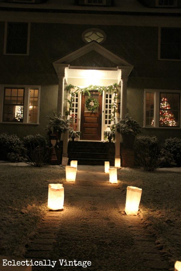Luminaries on Christmas Eve
