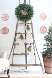 French Country Cottage Christmas Tour featured at eclecticallyvintage.com