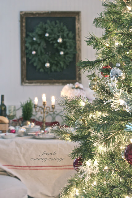 Christmas dining room part of a gorgeous house tour