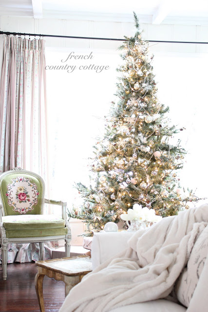 Eclectic Christmas House Tour - French Country Cottage Christmas