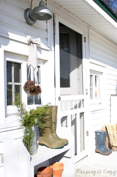 Farmhouse Christmas - simple and love the boots