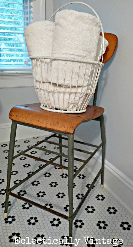 Eclectically Vintage Bathroom makeover - welcome guests
