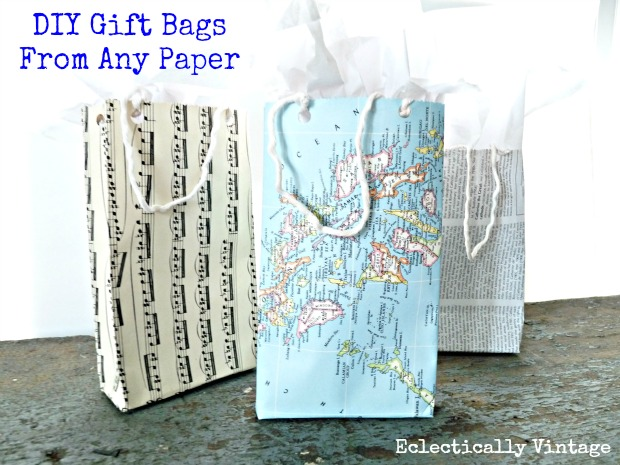 Eclectically Vintage - DIY Gift Bags from Any Paper!