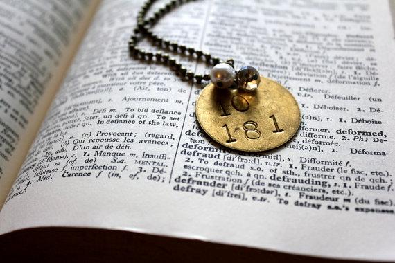 Vintage Miner's Tag Necklace