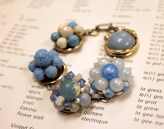 Hand Made Vintage Bracelet using vintage finds