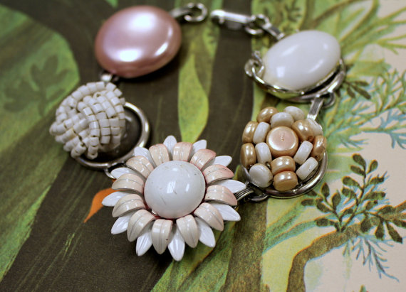 White vintage bracelet - stunning for a wedding