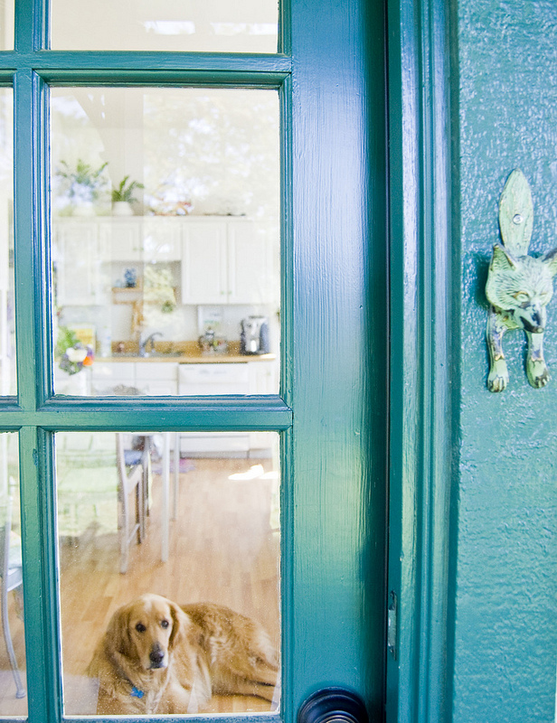California Decorating Style home tour - love the blue door! kellyelko.com