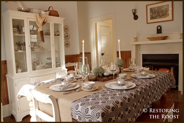 1917 Bungalow dining room - love the fireplace