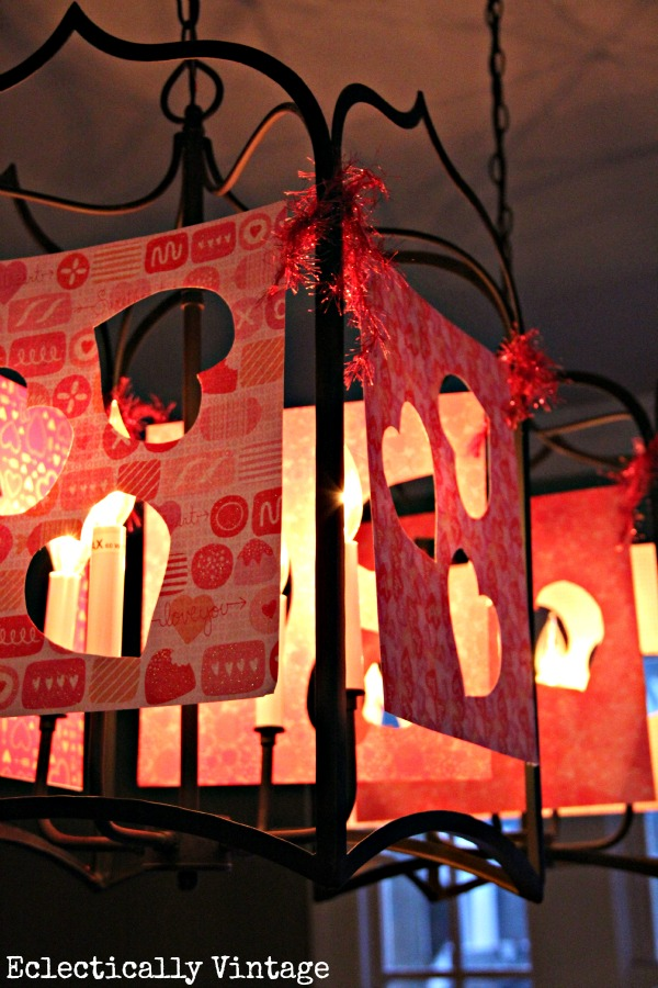 Make these Valentine lantern luminaries eclecticallyvintage.com