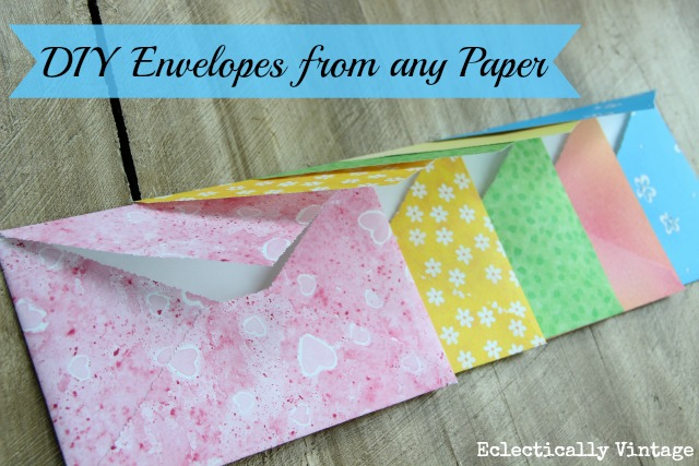 Make diy envelopes from any paper diy envelopes from any paper the worlds simplest way to make them kellyelko spiritdancerdesigns Images
