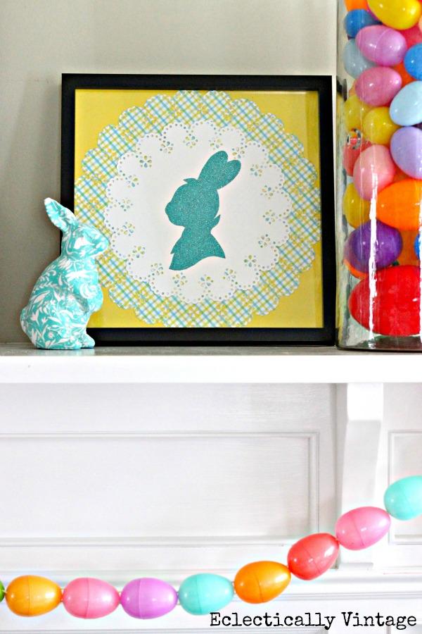 Make a bunny silhouette kellyelko.com