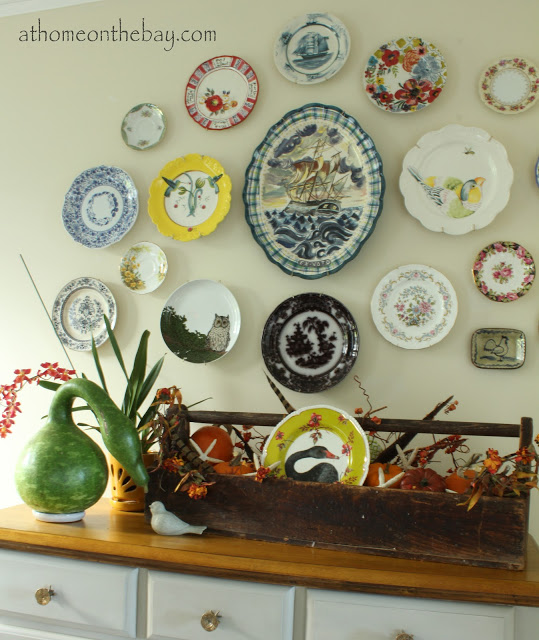 Colorful Plate Wall - one of 20+ creative plate walls at eclecticallyvintage.com