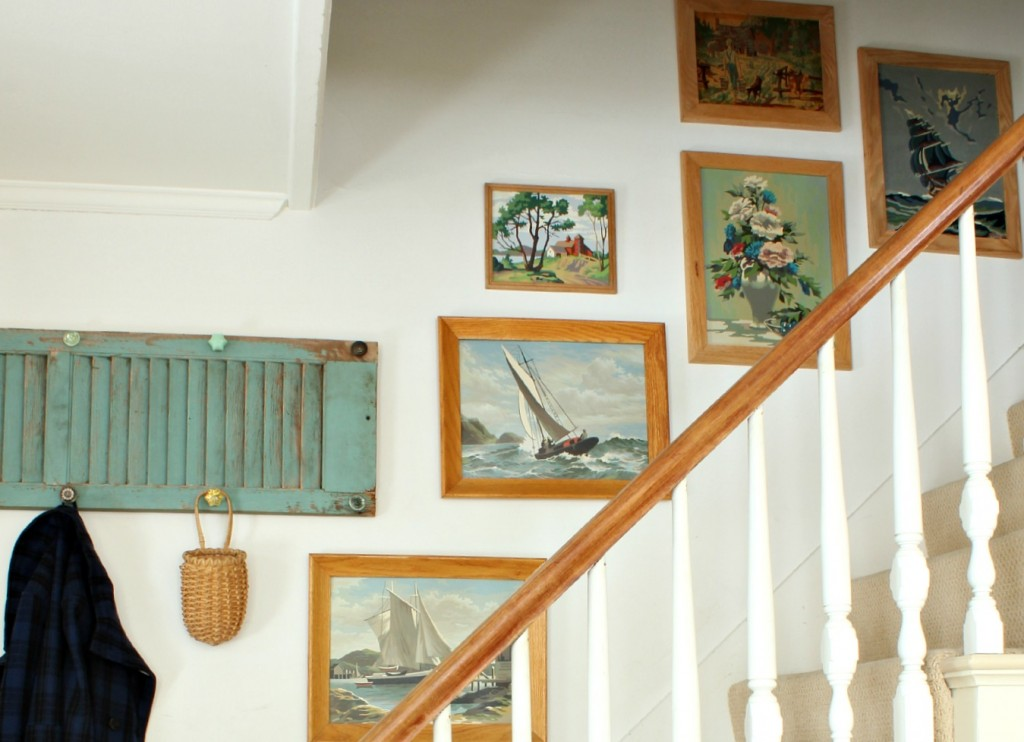 Cottage tour - filled with tons of great ideas like this vintage gallery wall