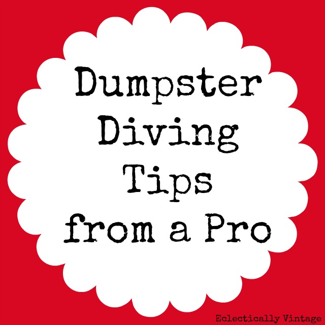 Dumpster Dive Tips - from a Pro!! Everything you need to know to get great free stuff!