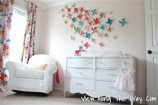 Colorful DIY Pinwheel art plus a great house tour!