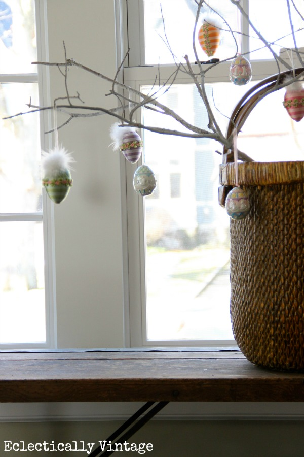 Eclectically Vintage spring decorating