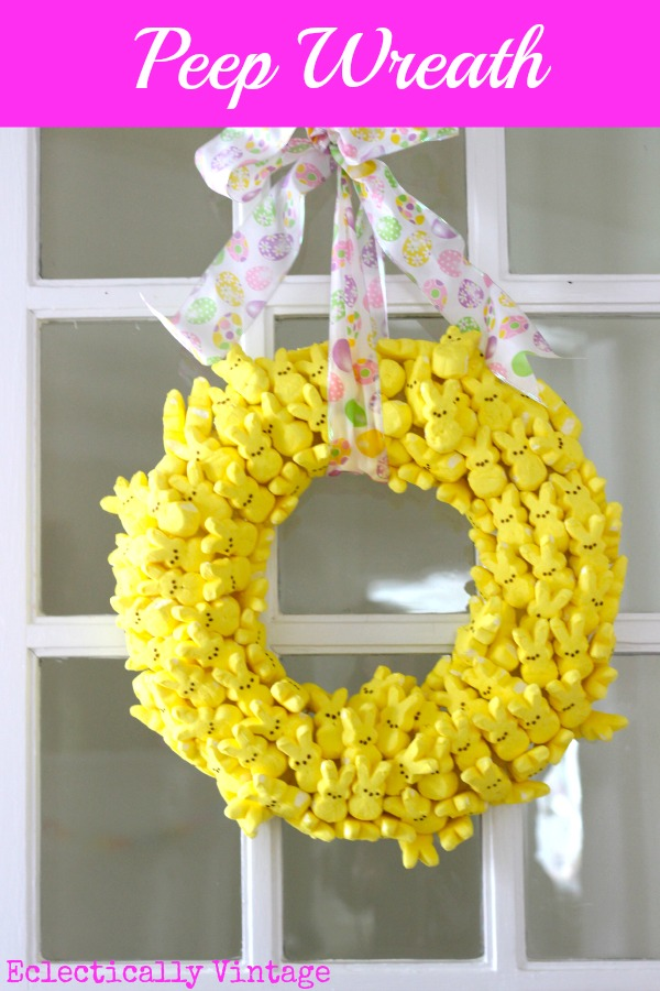 Eclectically Vintage peeps wreath crafts kids
