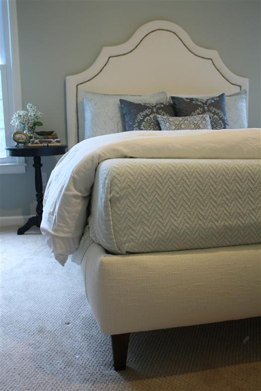 DIY upholstered headboard & house tour