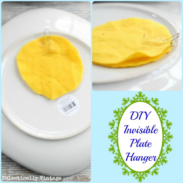 DIY Invisible Plate Hangers - save tons of money by making these!