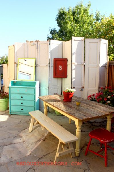 How To Make A Privacy Screen From Old Doors Want Earn Your Dumpster Diving