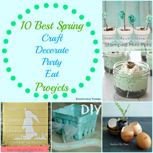 10 Best Spring Crafts - Decorate, Party & Eat! kellyelko.com