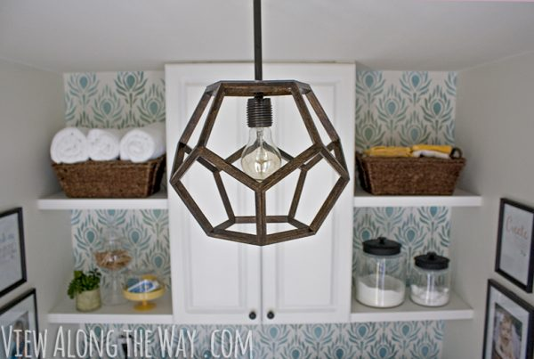DIY dodecahedron light fixture (Ralph Lauren knockoff) plus a great house tour!