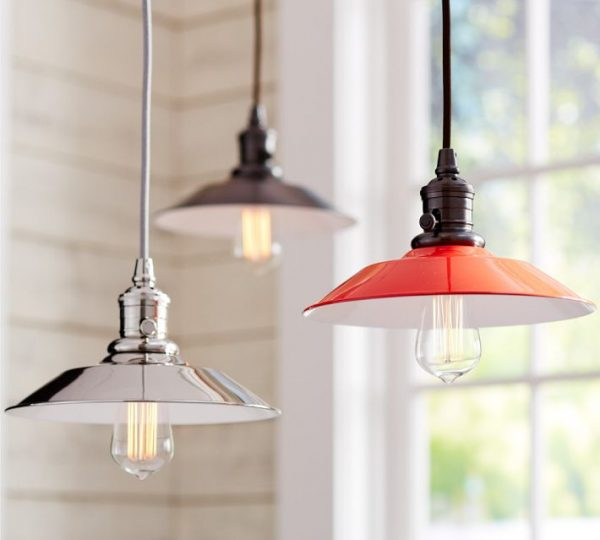 Pottery Barn Classic Pendant lights via Eclectically Vintage