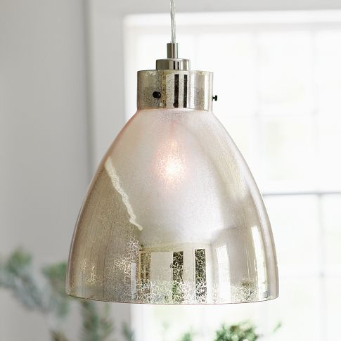 West Elm Industrial Mercury Pendant via Eclectically Vintage