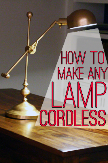 How to Make Any Lamp Cordless - genius!