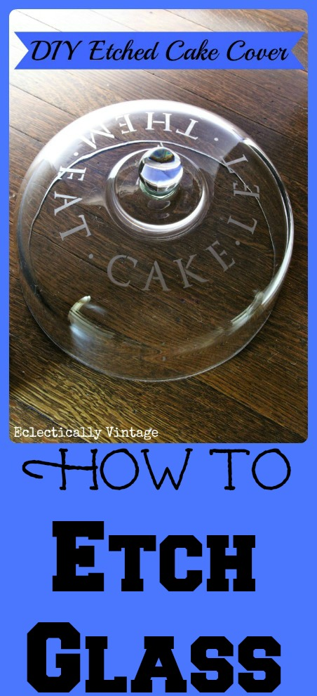 How to Etch Glass tutorial - makes the perfect gift!  kellyelko.com