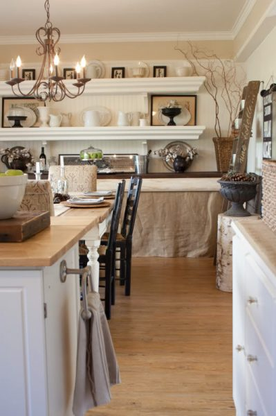 The Old Painted Cottage house tour - great dining storage