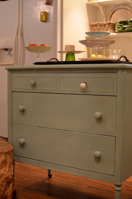 Flea Market Fabulous house tour - you don't want to miss this!  Love this dresser tired kitchen island!
