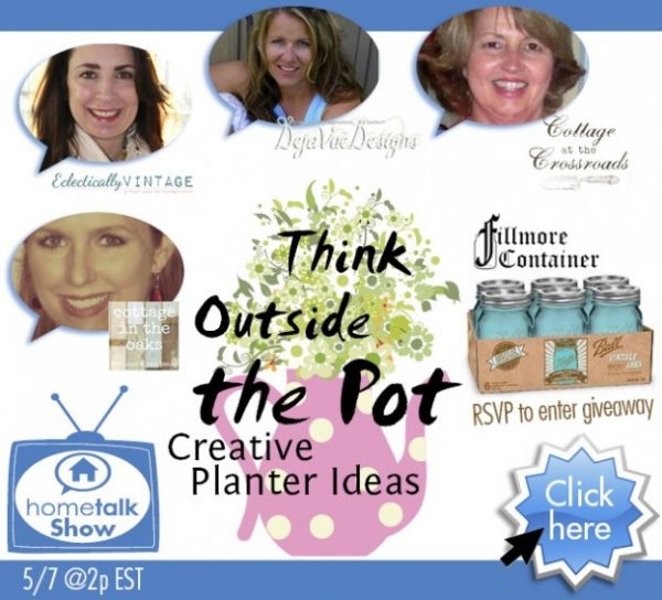 Think Outside the Pot - Creative Planter Ideas with Hometalk and eclecticallyvintage.com