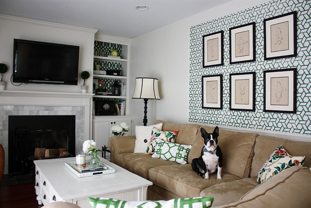 Stenciled statement wall - and a fabulous house tour