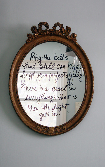 Quote mirror - DIY for a fun twist