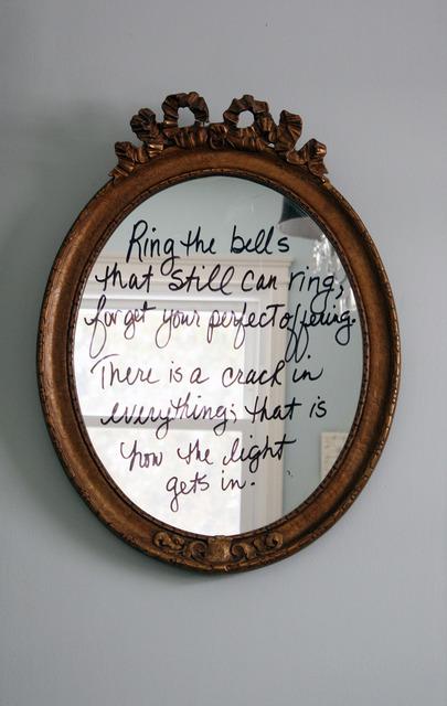 Quote mirror - DIY for a fun twist