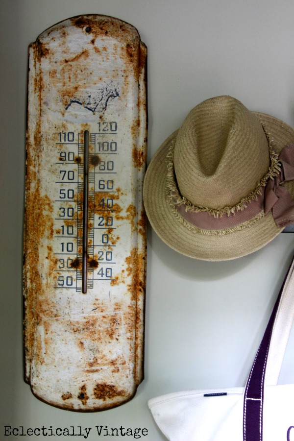 I Scored at the Thrift Store - Vintage Thermometer (one of many fabulous finds) eclecticallyvintage.com