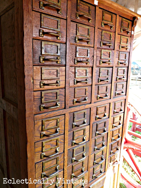 Card Catalog - found at Brimfield Flea Market - 2 miles and 5,000 vendors!