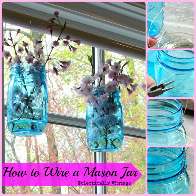 How to wire mason jars - quick and easy!  kellyelko.com