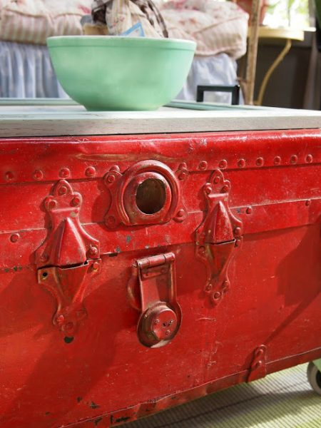 Flea Market Fabulous house tour - you don't want to miss this!  Love this painted old trunk
