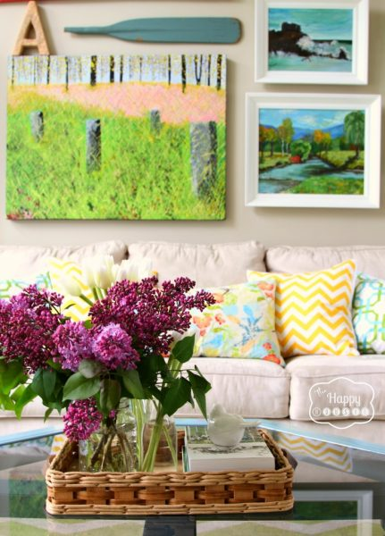 Colorful Lake House tour filled with tons of great DIY ideas!