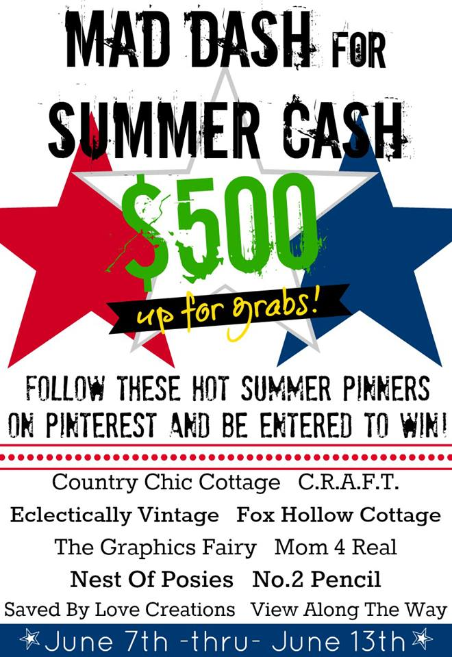 Win $500 by following 10 Fabulous Pinners!  #sweepstakes #giveaway
