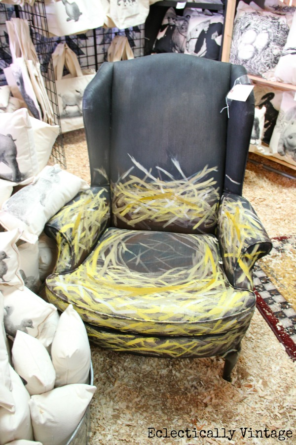 "A Day at the Country Living Fair - tons of fabulous pictures!  Love this ""nest"" chair!  eclecticallyvintage.com"
