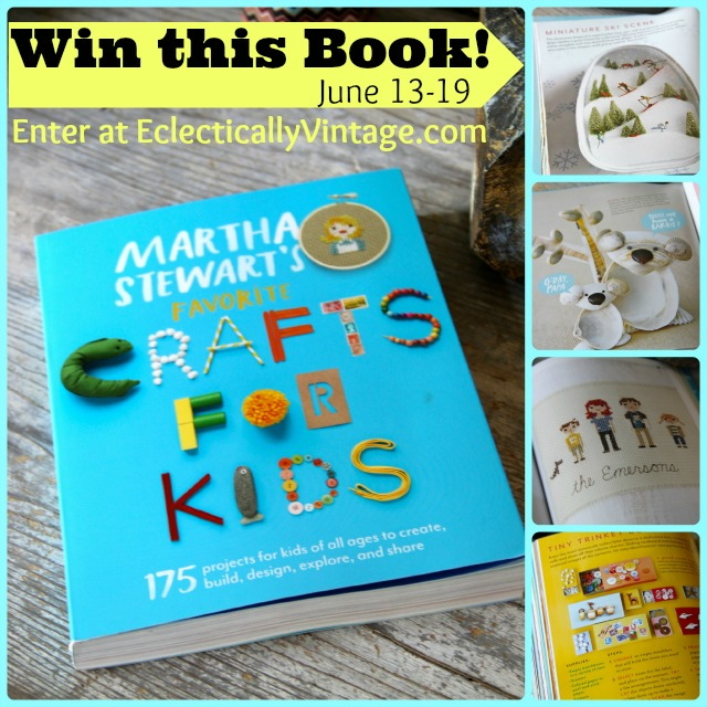 Win a Martha Stewart book - before it hits store shelves!  #12monthsofmartha #marthastewartcrafts eclecticallyvintage.com