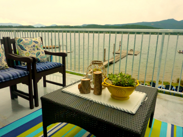 Colorful Lake House tour filled with tons of great DIY ideas!  And that view!
