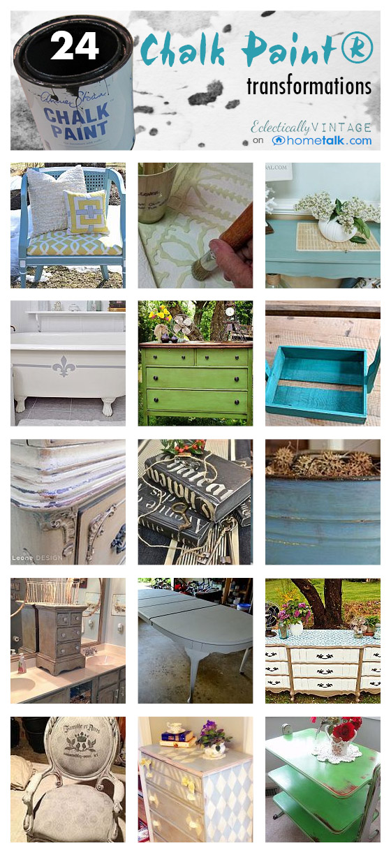Chalk Paint 101 - and Tips from the Pros! eclecticallyvintage.com